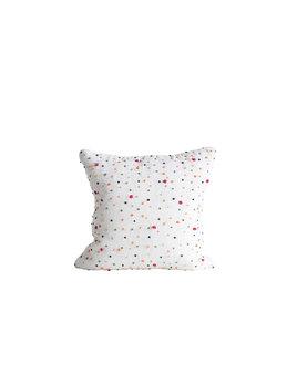 "Creative Co-op 18"" Square Cotton Pillow w/ French Knots - Multi Color"