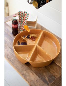 Kalalou Ceramic Peace Sign Chip & Dip Tray