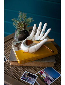 Kalalou Ceramic Hand Ring Holder
