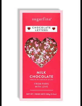 Sugarfina Chocolate Letters Milk Chocolate Bar