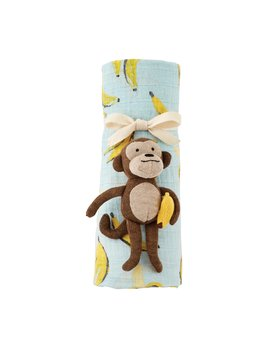 Mudpie Food Swaddle & Rattle Set