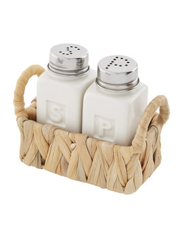 Mudpie Hyacinth Salt & Pepper Set