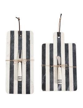 Mudpie Stripe Marble Board Sets