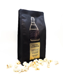 Eatable Pop the Champagne (100g) Alcohol Infused Gourmet Popcorn