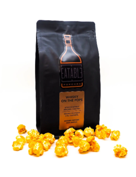 Eatable Whisky on the Pops (100g) Alcohol Infused Gourmet Popcorn