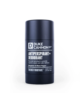 Duke Cannon Natural Charcoal Deodorant - Bergamot & Black Pepper