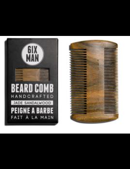6IXMAN Jade Sandalwood Comb - Naturally Antisatic & Pocket Sized