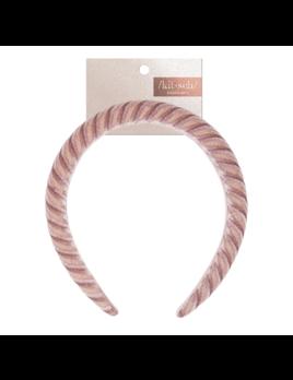 Kitsch Velvet Padded Headband - Blush