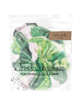 Kitsch Microfiber Scrunchies - Palm