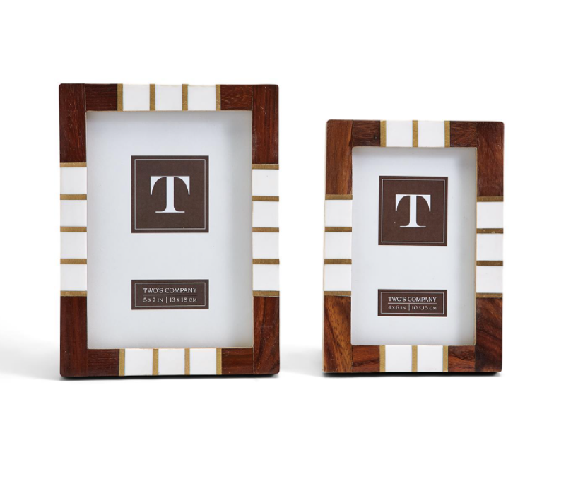 Two's Company Top Brass Photo Frames