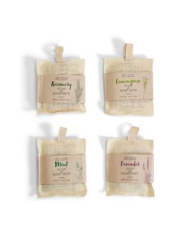 Two's Company Bath Mitt w/ Handmade Soap