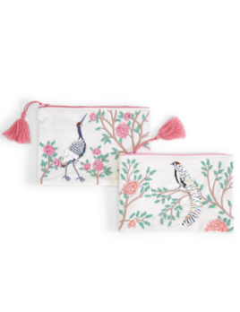 Two's Company Flora & Fauna Multipurpose Pouch