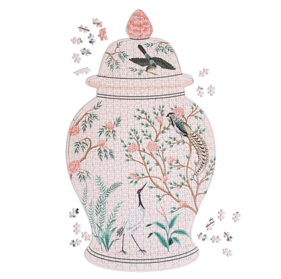 Two's Company Flora & Fauna Ginger Jar 500 Pc Puzzle