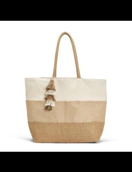 Two's Company Triple Thread Tote Bag w/ Tassel