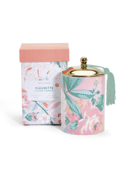 Two's Company Vintage Floral Scented Candle