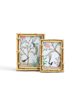 Two's Company Gold Faux Bamboo Photo Frame