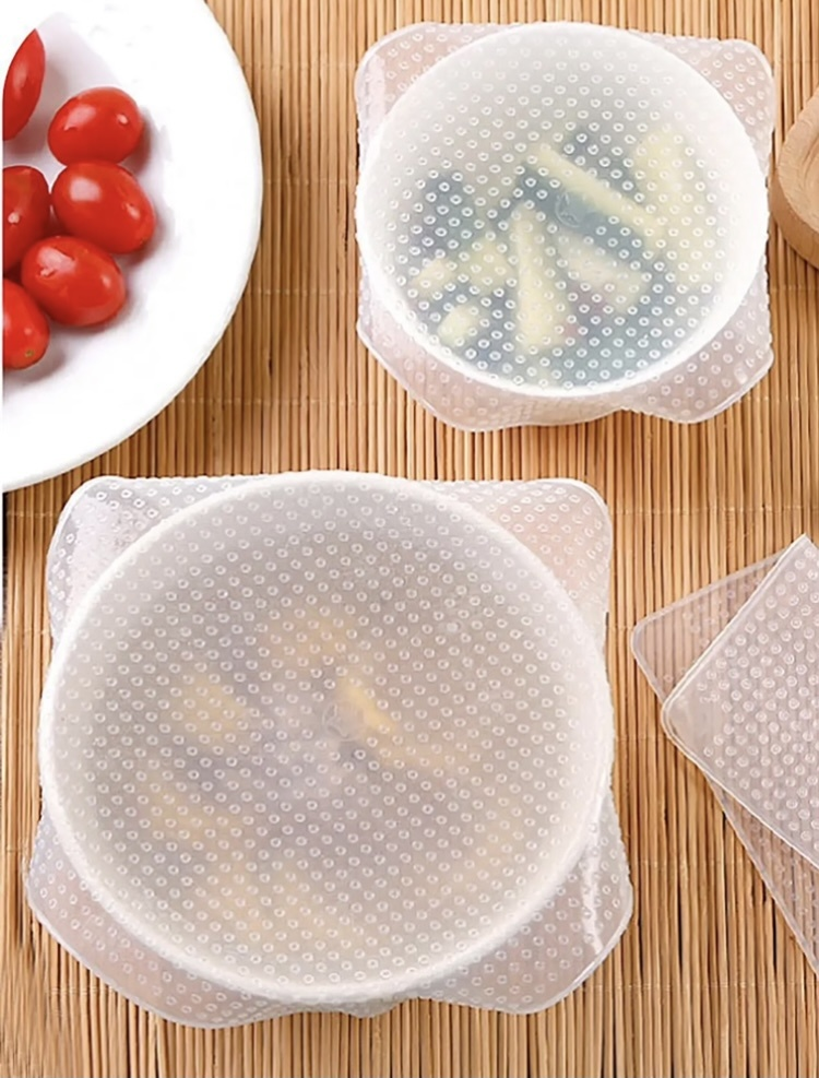 FLUFF Gifts Reusable Silicone Food Storage Cover - Set of 3