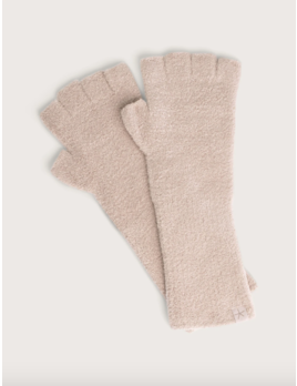Barefoot Dreams Cozychic Lite Fingerless Gloves Taupe