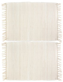 Pillowpia Chindi Placemat Set of 2 - Heavy Cream
