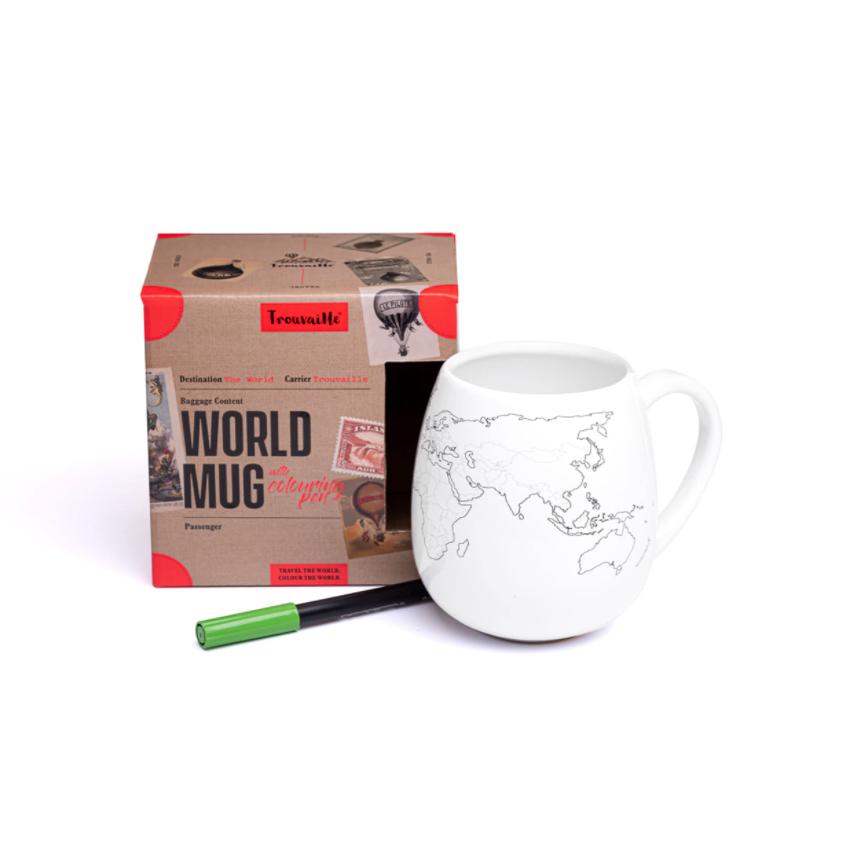 Trouvaille Global World Mug