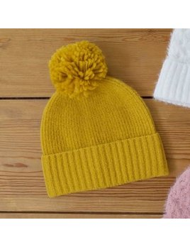 Lisa Angel Bobble Hat - Mustard