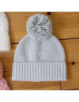 Lisa Angel Bobble Hat - Grey