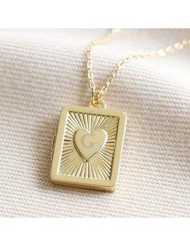 Lisa Angel Vintage Style Book Locket Necklace - Gold
