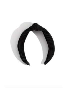 Mulberry & Grand Ruched Top Knot Headband Black