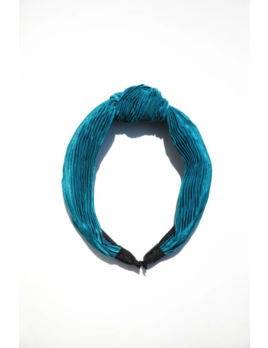Mulberry & Grand Ruched Top Knot Headband Teal