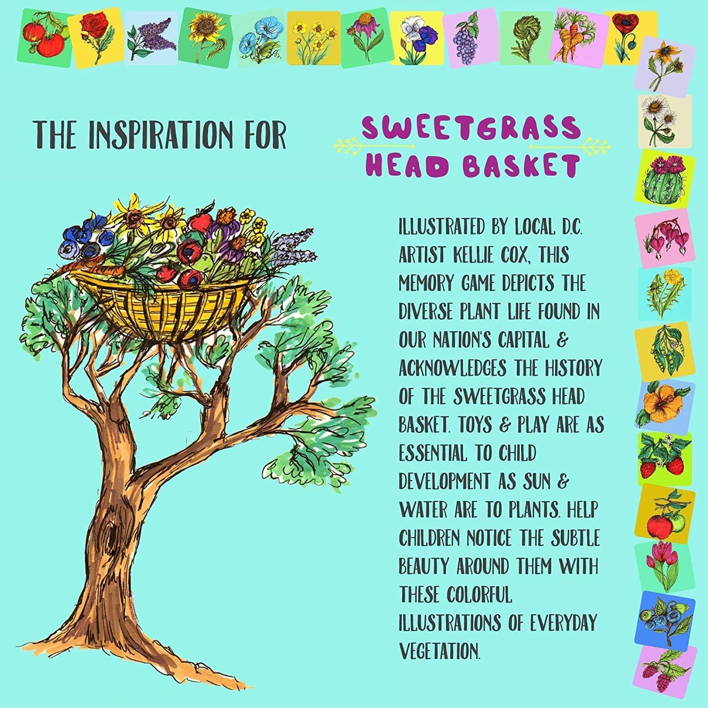 Little Likes Kids Sweetgrass Head Basket Memory Game