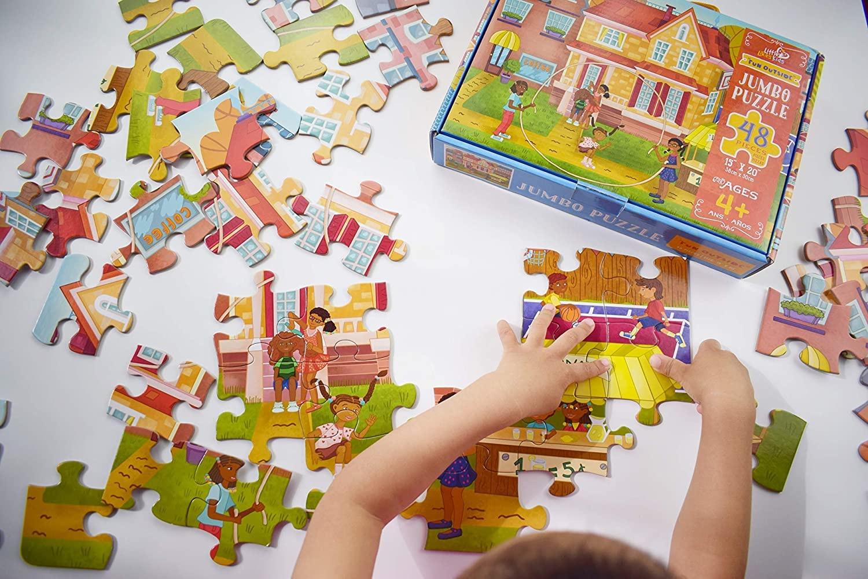 Little Likes Kids Fun Outside Jumbo Puzzle - 48Pcs