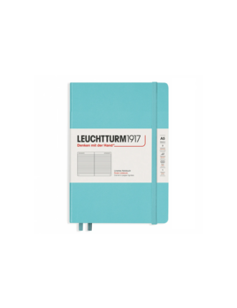 Leuchttrum1917 Rising Colors - Notebooks Hardcover Medium - Aquamarine - Ruled