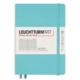 Leuchttrum1917 Rising Colors - Notebooks Hardcover Medium - Aquamarine - Ruled