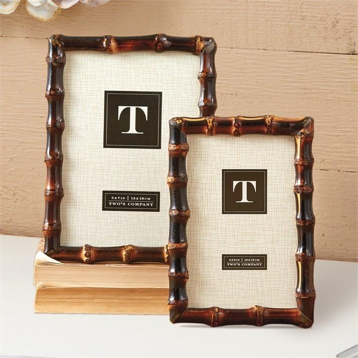 Two's Company Bamboo Photo Frames