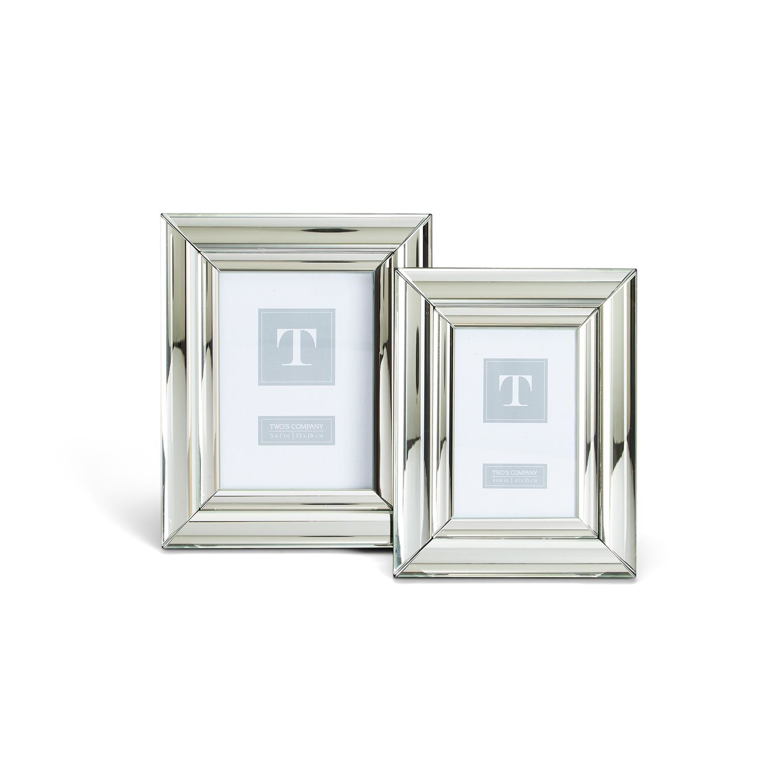 Two's Company Silver Mirror Frame
