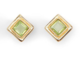 Two's Company Gold Studs with Center Stones