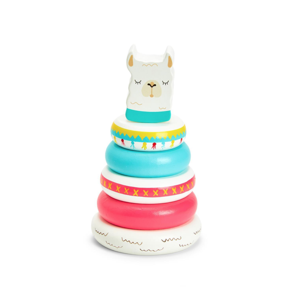 Two's Company Llama Stacking Toy