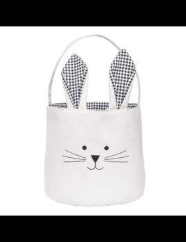 C&F Black Bunny Ears Easter Basket