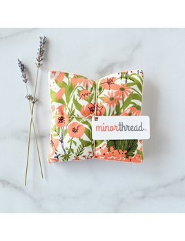 Minor Thread Organic Lavender Sachet - Mazy's Peach Floral - Set of 2