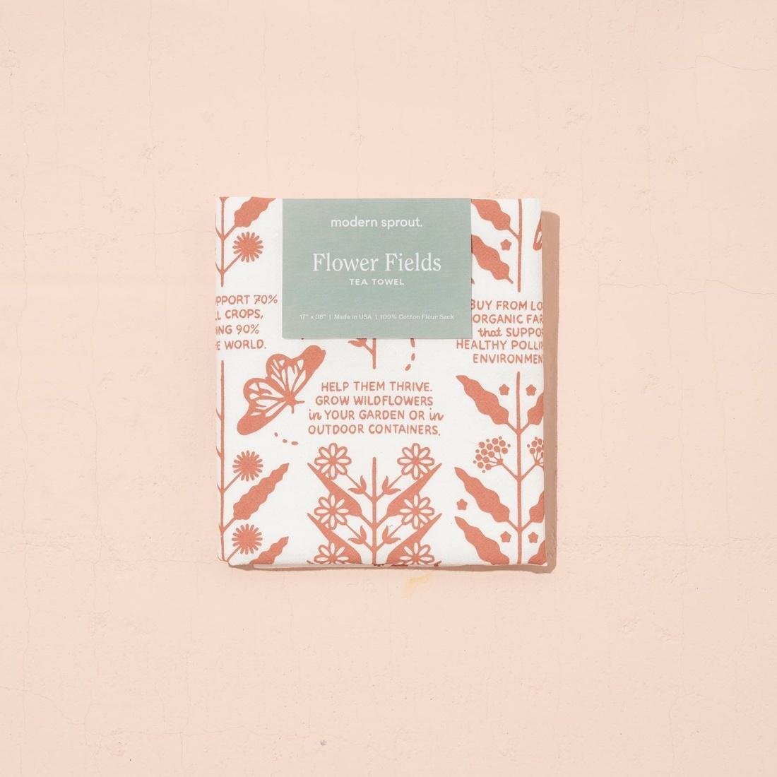 Modern Sprout Tea Towel - Flower Fields
