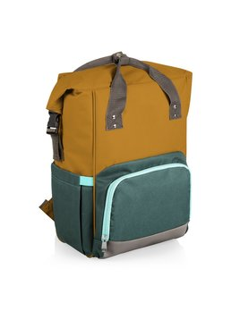 Picnic Time OTG Roll - Top Cooler Backpack - Mustard
