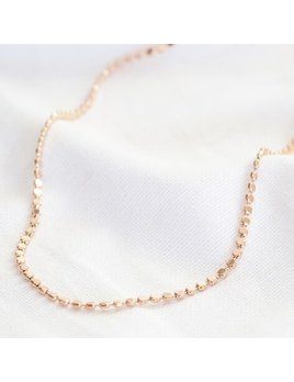 Lisa Angel Disc Chain Necklace in Rose Gold