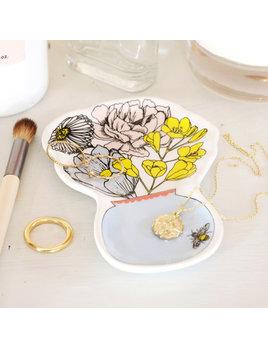Lisa Angel Wildflower Vase Trinket Dish