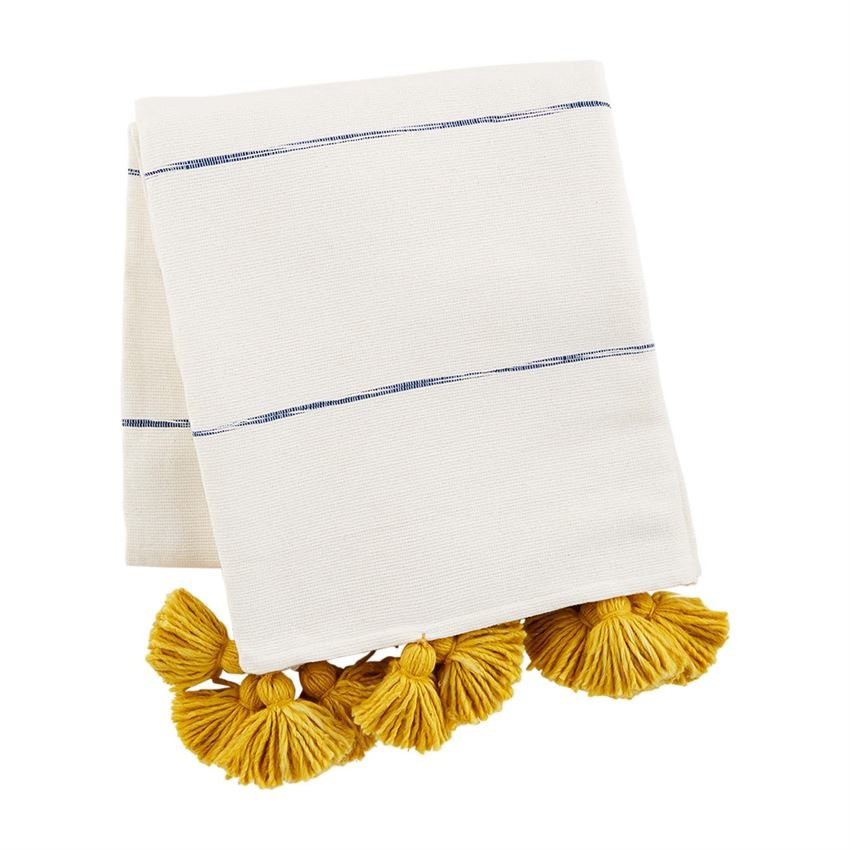 Mudpie Tassel Stripe Throws