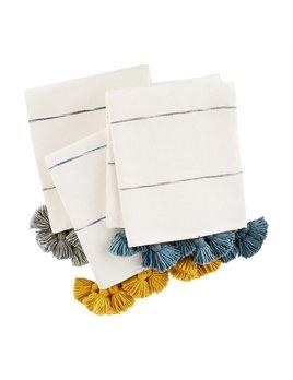 Mudpie Tassel Stripe Throws