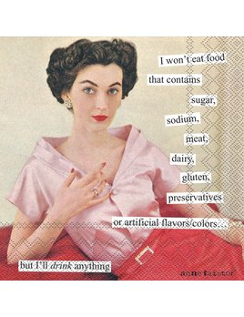 Boston International Anne Taintor - I Won't Eat Paper Napkin