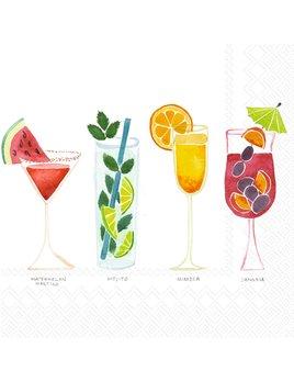 Boston International Summer Cocktails - Paper Napkin