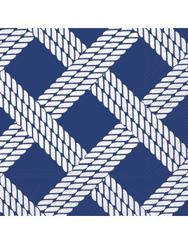 Boston International Sailor's Rope Blue - Paper Napkin