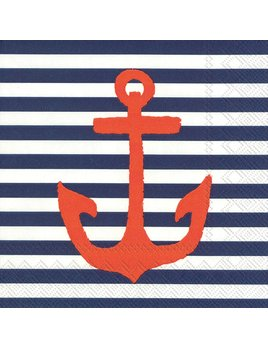 Boston International Yatch Club Blue Anchor - Paper Napkin