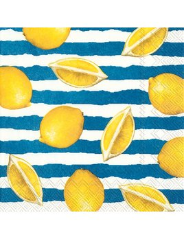 Boston International Summer Lemons Blue - Paper Napkin